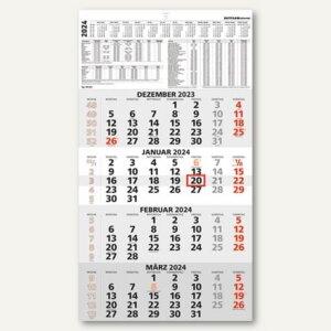 4-Monatswandkalender - 33 x 63.5 cm, 4 Monate/1 Seite, Datumschieber, 9590011