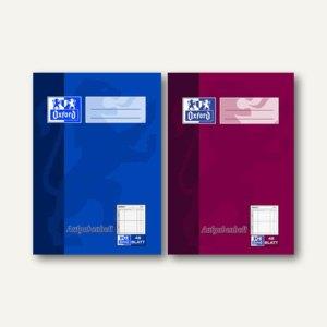 Oxford Hausaufgabenheft, DIN A6, Klasse 9, 48 Blatt, sortiert, 2 Stück,100057949
