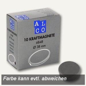 Alco Kraftmagnet rund, Ø38 mm, 2.5 kg, 13.5 mm hoch, grau, 10 Stück, 6848V29