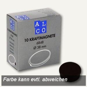Alco Kraftmagnet rund, Ø38 mm, 2.5 kg, 13.5 mm hoch, schwarz, 10 Stück, 6848V11