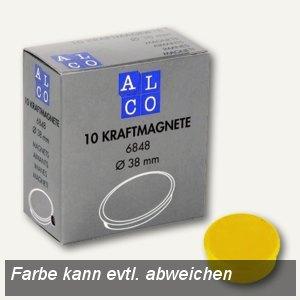 Alco Kraftmagnet rund, Ø38 mm, 2.5 kg, 13.5 mm hoch, gelb, 10 Stück, 6848V13