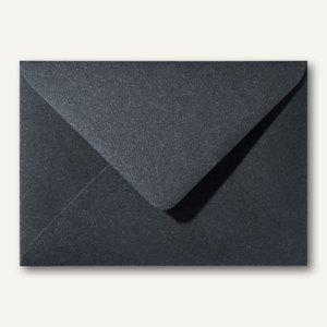 Farbiger Briefumschlag Metallic, 110x156mm, nasskl., ohne Fenster, schwarz, 500S