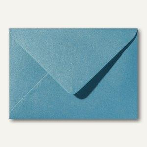 Farbiger Briefumschlag Metallic, 110x156mm, nasskl., ohne Fenster, hellblau, 500