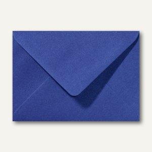 Farbiger Briefumschlag Metallic, 110x156mm, nasskl., ohne Fenster, dunkelblau, 5