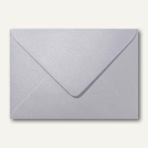 Farbiger Briefumschlag Metallic, 110x156mm, nasskl., ohne Fenster, platin, 500St