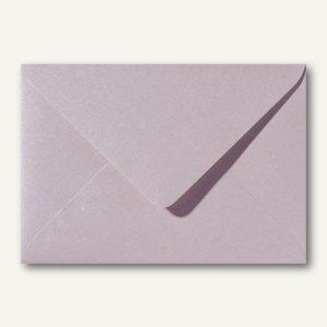 Farbiger Briefumschlag Metallic, 110x156mm, nasskl., ohne Fenster, rosa, 500St.