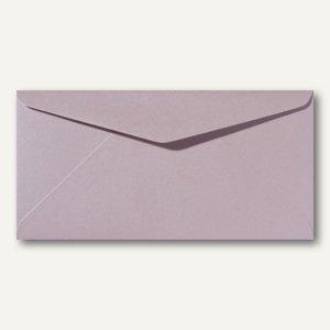 Farbiger Briefumschlag Metallic DL, 110x220mm, nasskl., ohne Fenster, rosa, 500S