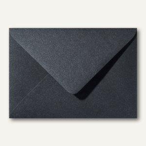 Farbiger Briefumschlag Metallic, 120x180mm, nasskl., ohne Fenster, schwarz, 500S