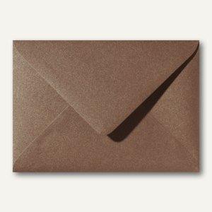 Farbiger Briefumschlag Metallic, 120x180mm, nasskl., ohne Fenster, braun, 500St.