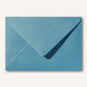 Farbiger Briefumschlag Metallic, 120x180mm, nasskl., ohne Fenster, türkis, 500St
