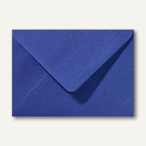 Farbiger Briefumschlag Metallic, 120x180mm, nasskl., ohne Fenster, dunkelblau, 5