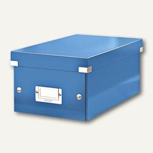 LEITZ DVD-Ablagebox Click & Store WOW, blau, 6042-00-36