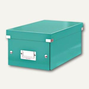 LEITZ DVD-Ablagebox Click & Store WOW, eisblau, 6042-00-51