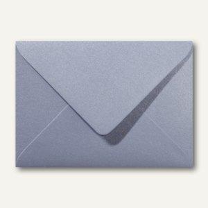 Farbiger Briefumschlag Metallic, 120x180mm, nasskl., ohne Fenster, silber, 500St