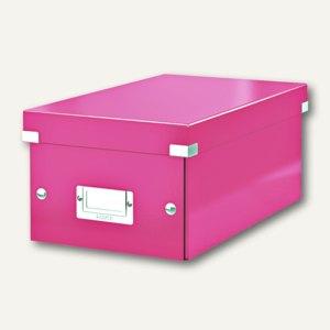LEITZ DVD-Ablagebox Click & Store WOW, pink, 6042-00-23