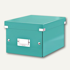 LEITZ Ablagebox Click & Store WOW, DIN A5, eisblau, 6043-00-51