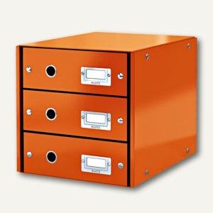 LEITZ Schubladenbox Click & Store WOW, 3 Schübe, DIN A4, orange, 6048-00-44