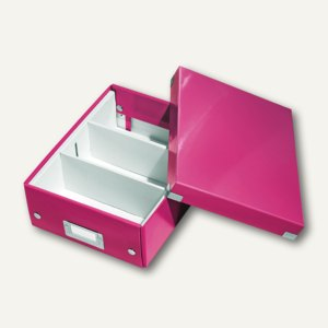 LEITZ Organisationsbox Click & Store WOW, 285 x 220 x 100 mm, pink, 6057-00-23