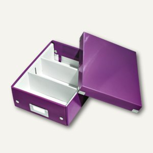 LEITZ Organisationsbox Click & Store WOW, 285 x 220 x 100 mm, violett,6057-00-62