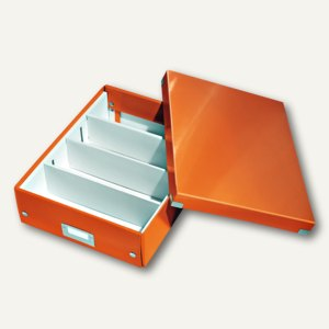 LEITZ Organisationsbox Click & Store WOW, 280 x 370 x 100 mm, orange, 6058-00-44