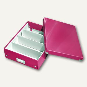 LEITZ Organisationsbox Click & Store WOW, 280 x 370 x 100 mm, pink, 6058-00-23