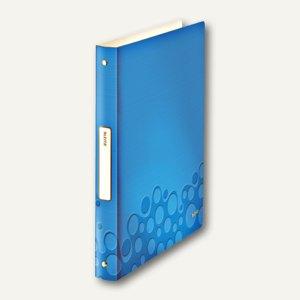 Ringbuch WOW, DIN A4, PP, 32mm Rücken, 4 Rund-Ring, blau-metallic, 4258-00-36
