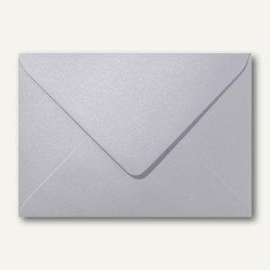 Farbiger Briefumschlag Metallic, 156x220 mm, nasskl., ohne Fenster, platin, 500S