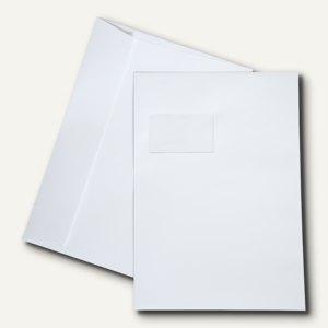 Briefumschlag DIN C4, Haftklebung, Fenster/li., 120g/qm, weiß, 200St.