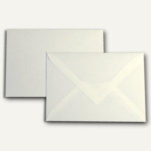 Briefumschlag DIN C6, nasskl., 110 g/qm, halbglatt, cremeweiß, 250St.