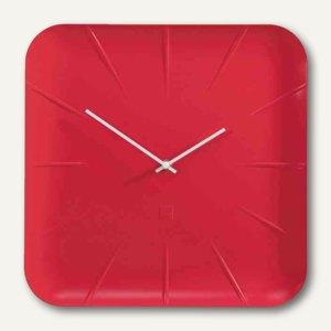 """Sigel Design-Wanduhr artetempus """"inu"""", Quarzuhr, Durchm. 360 mm, rot, WU142"""