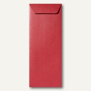 Farbiger Briefumschlag Metallic, 125x312 mm, nasskl., 120 g/m², dunkelrot, 500St