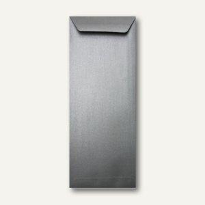Farbiger Briefumschlag Metallic, 125x312 mm, nasskl., 120 g/m², silber, 500St.