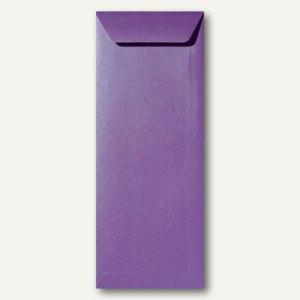 Farbiger Briefumschlag Metallic, 125x312 mm, nasskl., 120 g/m², violett, 500St.
