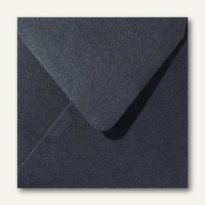 Farbiger Briefumschlag Metallic, 140x140 mm, nasskl., 120 g/m², schwarz, 500St.