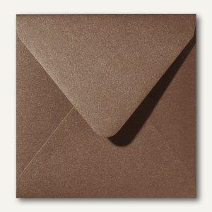 Farbiger Briefumschlag Metallic, 140x140 mm, nasskl., 120 g/m², braun, 500St.