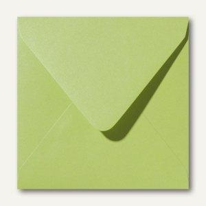 Farbiger Briefumschlag Metallic, 140x140 mm, nasskl., 120 g/m², grün, 500St.