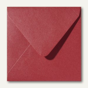 Farbiger Briefumschlag Metallic, 140x140 mm, nasskl., 120 g/m², dunkelrot, 500St
