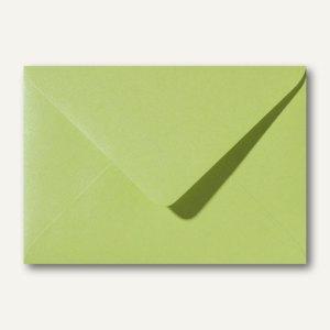 Farbiger Briefumschlag Metallic, 156x220 mm, nasskl., ohne Fenster, grün, 500St.