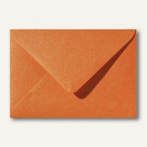 Farbiger Briefumschlag Metallic, 156x220 mm, nasskl., ohne Fenster, orange, 500S