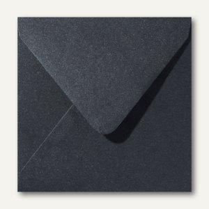 Farbiger Briefumschlag Metallic, 160x160 mm, nasskl., 120 g/m², schwarz, 500St.
