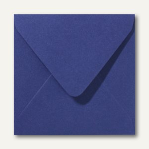 Farbiger Briefumschlag Metallic, 160x160 mm, nasskl., 120 g/m², dunkelblau, 500S