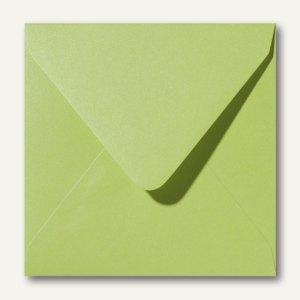 Farbiger Briefumschlag Metallic, 160x160 mm, nasskl., 120 g/m², grün, 500St.