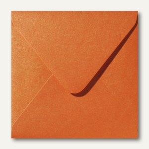 Farbiger Briefumschlag Metallic, 160x160 mm, nasskl., 120 g/m², orange, 500St