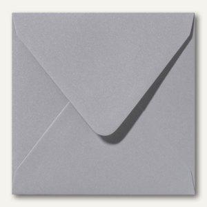 Farbiger Briefumschlag Metallic, 160x160 mm, nasskl., 120 g/m², platin, 500St.