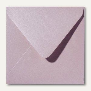 Farbiger Briefumschlag Metallic, 160x160 mm, nasskl., 120 g/m², rosa, 500St.