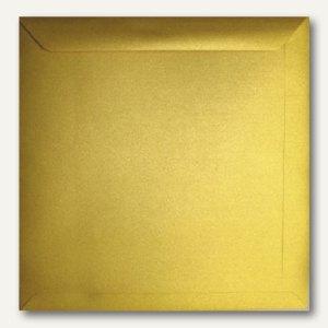 Farbiger Briefumschlag Metallic, 220x220mm, nasskl., 120 g/m², gold, 500St.
