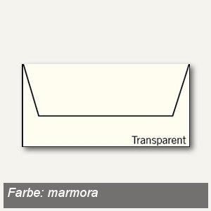 Transparente Briefumschläge DIN lang, nassklebend, marmora, 50 Stück, 164002108