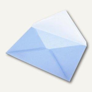 Transparenter Briefumschlag DIN C5, Pergamin, 100 g/m², hellblau, 50St.