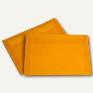 Transparenter Briefumschlag, DIN C5, Pergamin, 100g/m², intensivorange, 500St