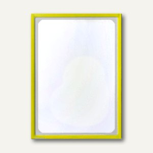 Infotasche mit Ausschnitt, DIN A4, hoch, selbstklebend, gelb, 5 Stück, 879502